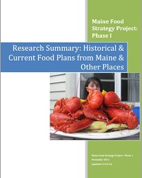 Research Summary: Historical & Current Food Plans from Maine and Beyond